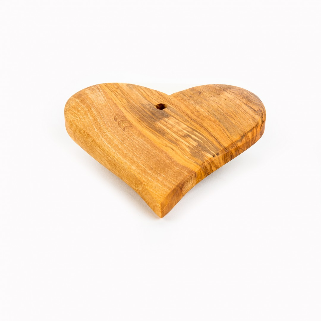 handgemaakt olijfhouten decoratie hart