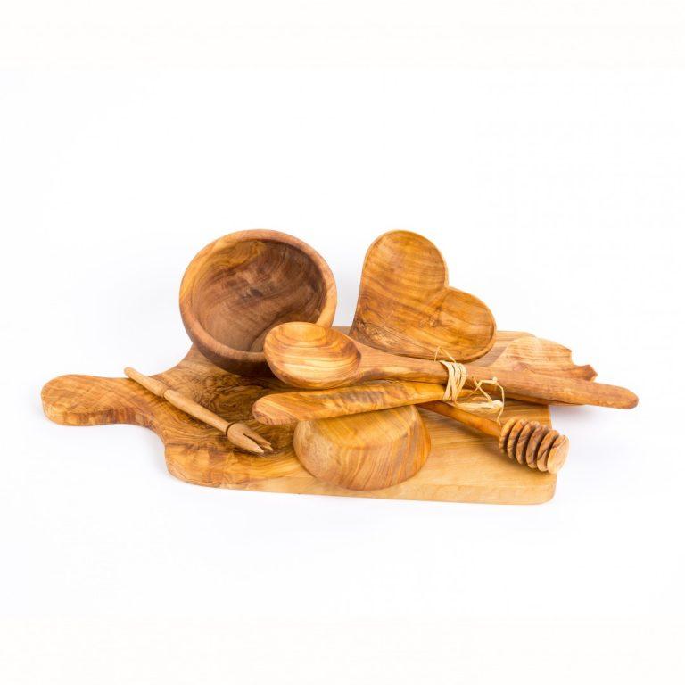handgemaakt olijfhout