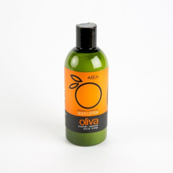 natuurlijke bodylotion op basis van olijfolie en sinaasappel